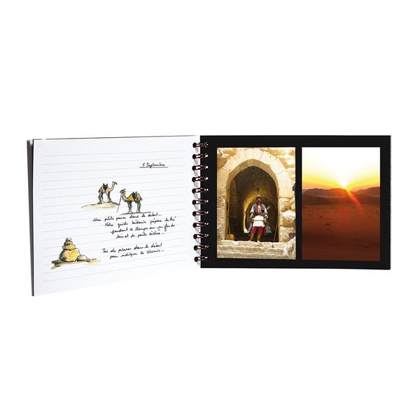 TRAVEL ALBUM 8X11 BLACK
