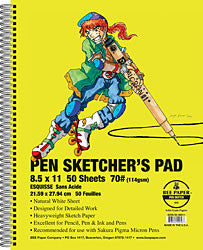 BEE PEN SKETCHERS PAD 8.5X11