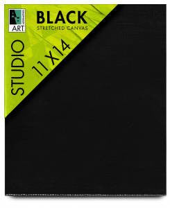 BLACK GESSOED CANVAS