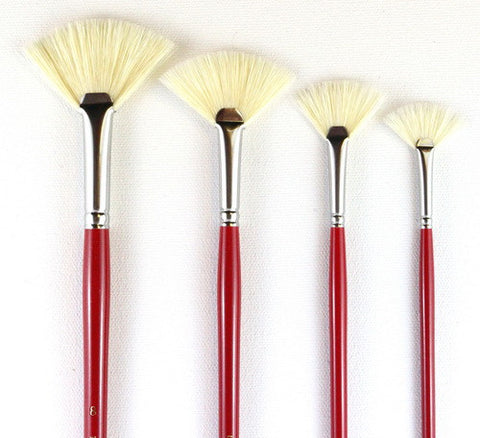 HOG'S BRISTLE FAN BRUSHES