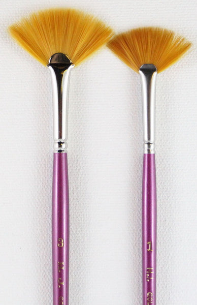 GOLD SABLE FAN  BRUSH