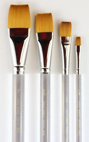 GOLD SABLE FLAT BRUSH