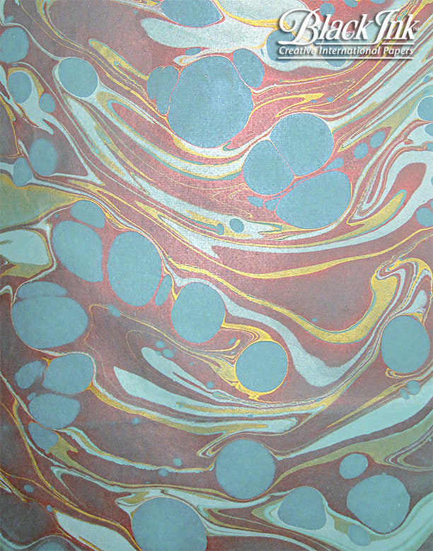 MARBLED PAPERS METALLIC GOLD/S