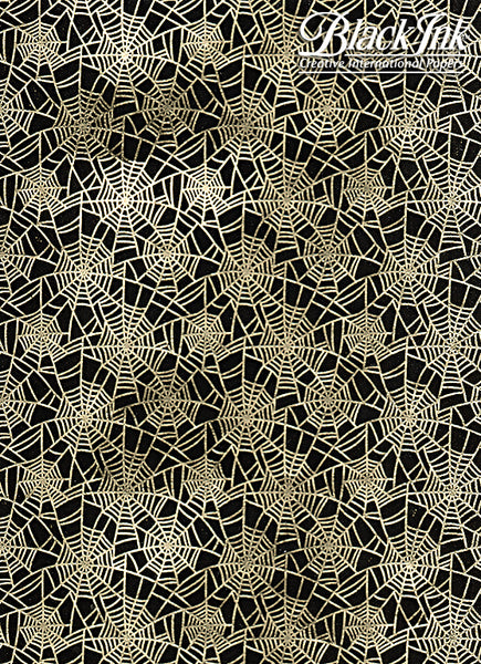 SPIDER WEB GOLD FOIL ON BLACK