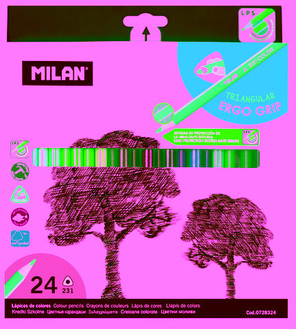 MILAN COLOUR PENCIL SET 24