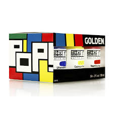 GOLDEN SOFLAT ACRYLIC POP SET