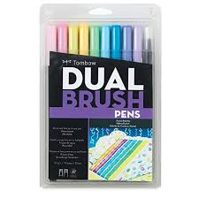 TOMBOW BRUSH PEN SET 10 PASTEL
