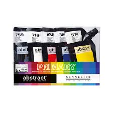 ABSTRACT PRIMARY COLOR SET 5