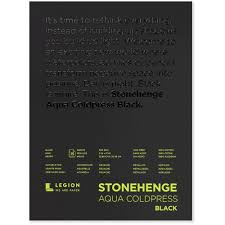 STONEHENGE AQUA BLACK WATERCOLOUR PAD