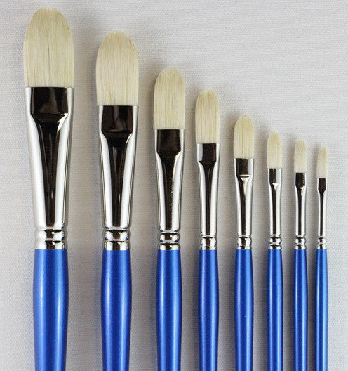 HOG'S BRISTLE BRUSHES - SHAPE: FILBERT