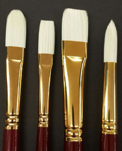 CONNOISSEUR BRISTLE BRUSHES - STYLE: FILBERT