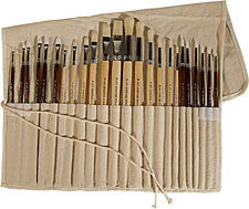 BRUSH SET C/W CANVAS ROLLUP