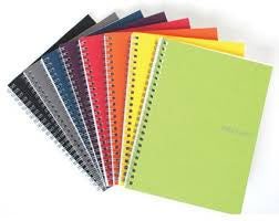 ECOQUA SPIRAL NOTEBOOK A4 - GRAPH
