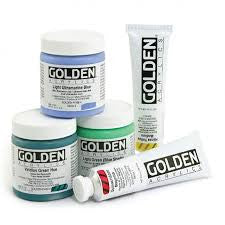 GOLDEN HEAVY BODY ACRYLICS - SIZE: 16 OZ