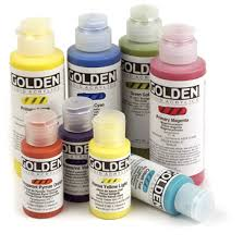 GOLDEN FLUID COLOURS -  4 OZ