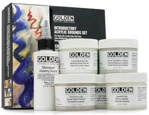 GOLDEN ACRYLIC GROUNDS SET