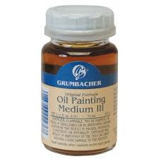 GRUMBACHER OIL PAINTING MEDIUM # III  - 2OZ