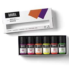 LIQUITEX GOUACHE SET 6 59ML FL
