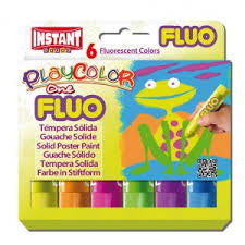 PLAYCOLOR SET 6 FLUORESCENT