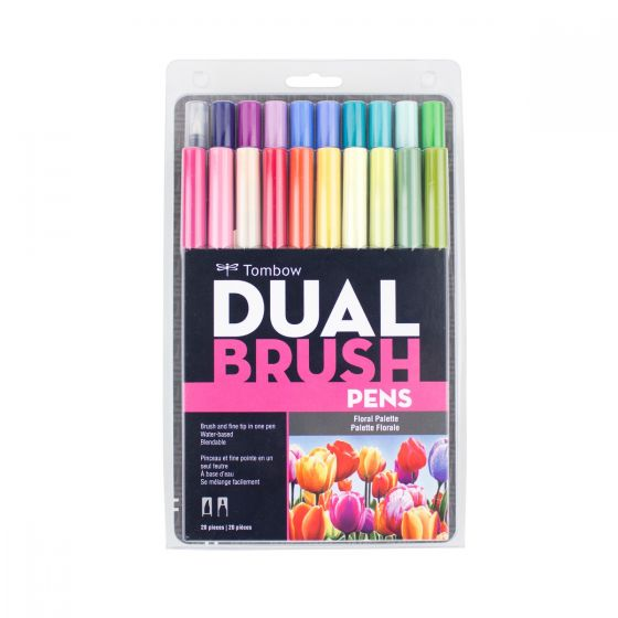 TOMBOW BRUSH PEN SET 20 FLORAL
