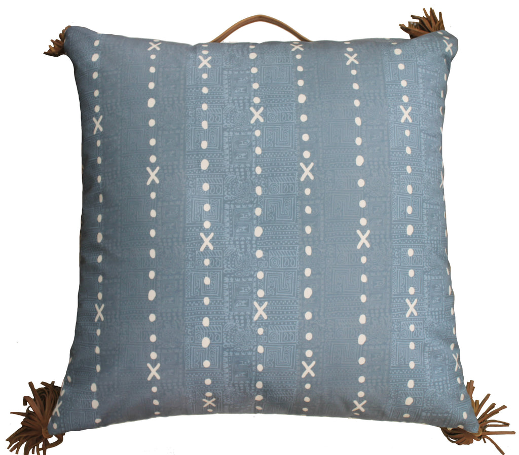 Outdoor temples x floor pillow blue