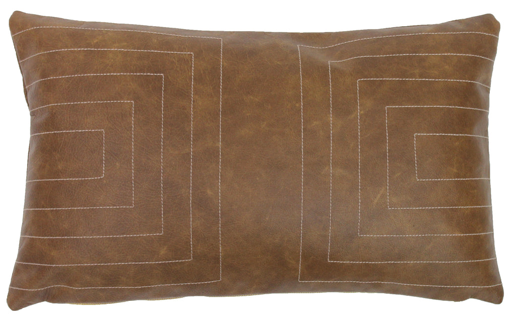 Leather Streams Pillow