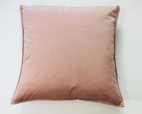 Nude velvet pillow