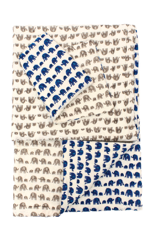 BLUE ELEPHANT THROW