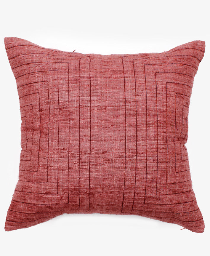EMBROIDERED STREAMS PILLOW