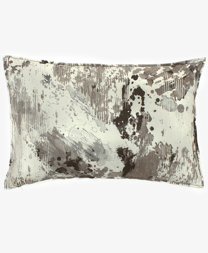 INK BLOT GREY PILLOW