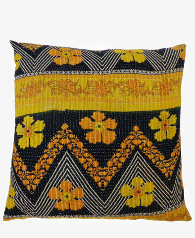 KANTHA STITCHED PILLOW
