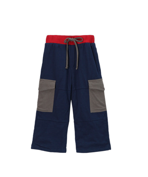 Navy Blue Organic Cargo Pants