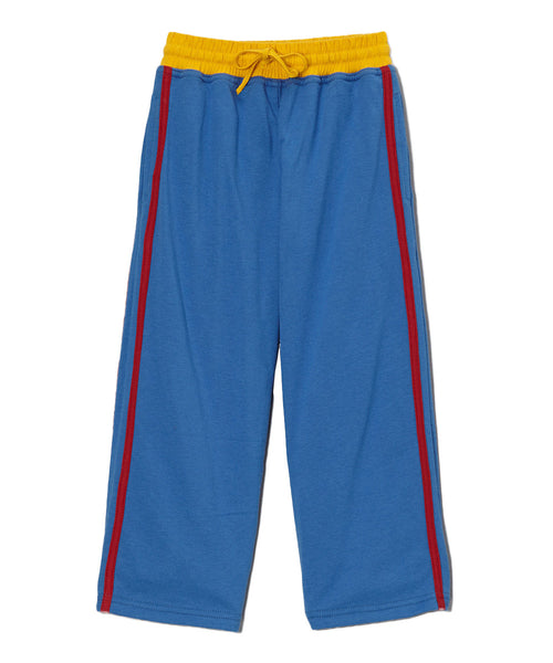 Royal Blue Organic & Red Side Stripe Pants with Yellow Waist