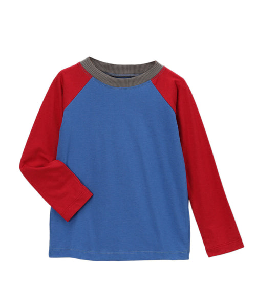 Blue & Chili Pepper Red Organic Longsleeve T-Shirt