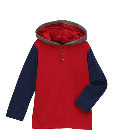 Chili Pepper Red & Navy Organic Hoodie