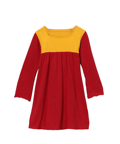 Chili Pepper Red & Yellow Organic Playground Dress