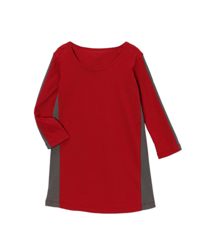 Chili Pepper Red & Charcoal Organic Sport Dress