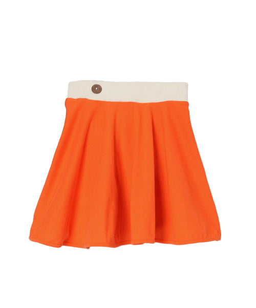 Firecracker Orange Organic Spin Skirt