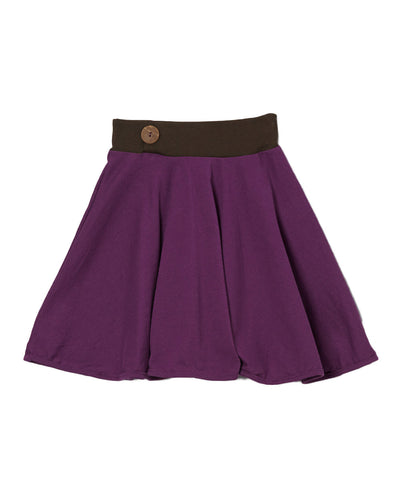 Plum & Chcolate Organic Spin Skirt
