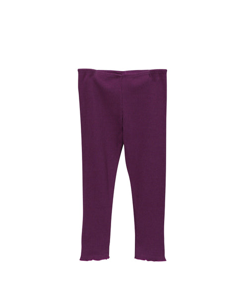 Plum Rib Knit Organic Vest & Legging  Set