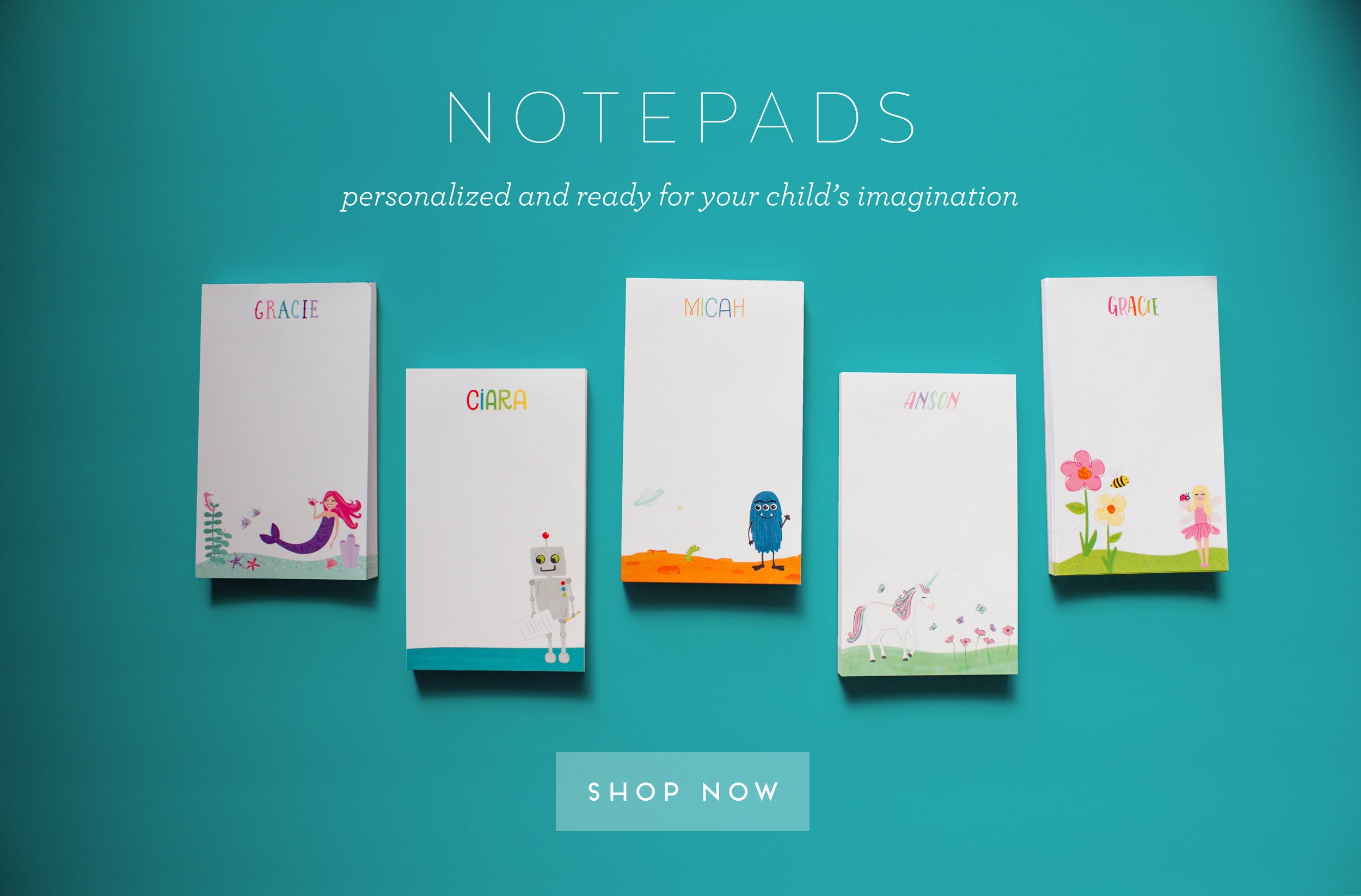 Notepads - Personalized and ready for your child's imagination - Shop Now