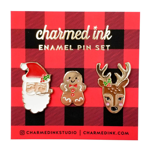 Christmas Enamel Pin Set