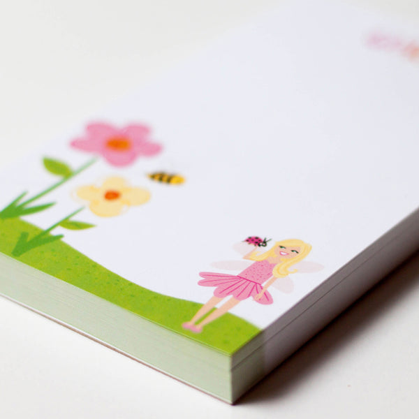 Personalized Kids Fairy Notepad