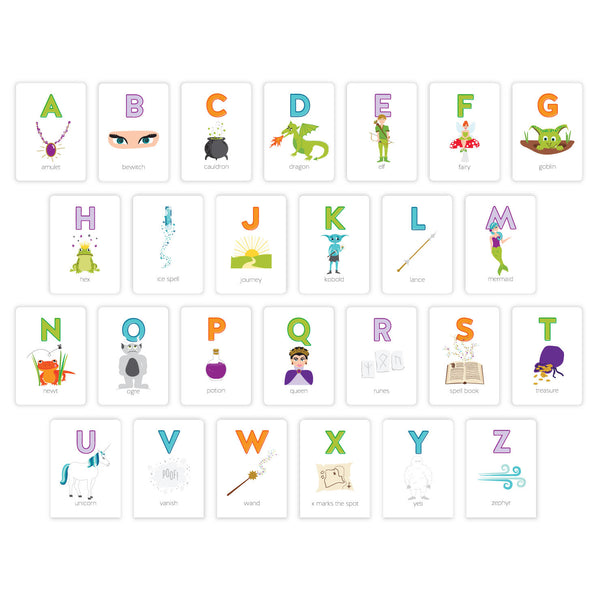 Fantasy & Fairy Tales Alphabet ABC Flash Card Set