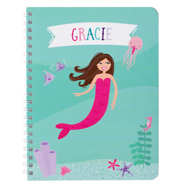 Personalized Mermaid Notebook