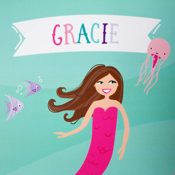 Personalized Kids Mermaid Notebook