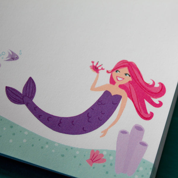 Personalized Kids Mermaid Notepad