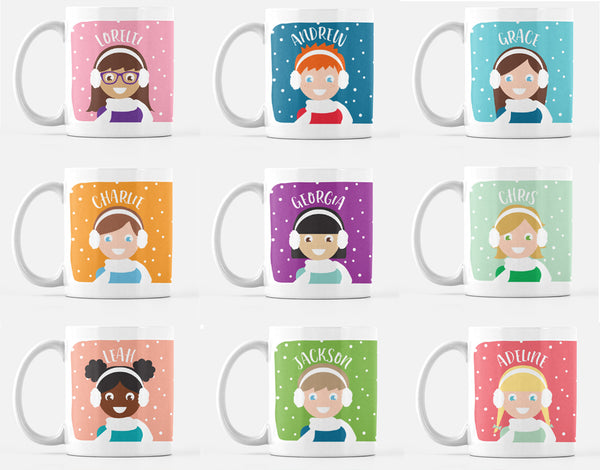 Personalized Winter Holiday or Christmas Kid's Mug