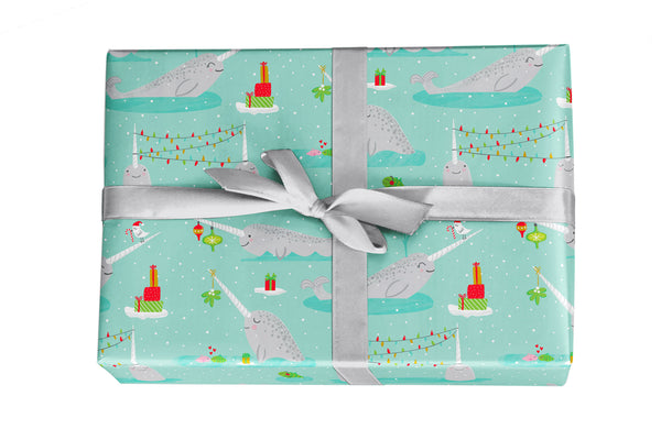 Narwhal Christmas Holiday Gift Wrap