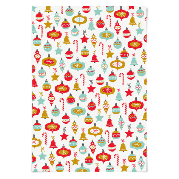 Christmas Ornaments Holiday Wrapping Paper